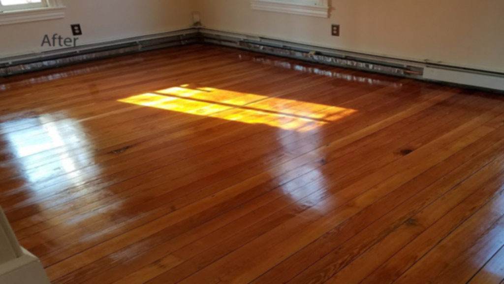 Medford old pine floor repaired and refinished to match new - Make wood floors shiny looking like new ...