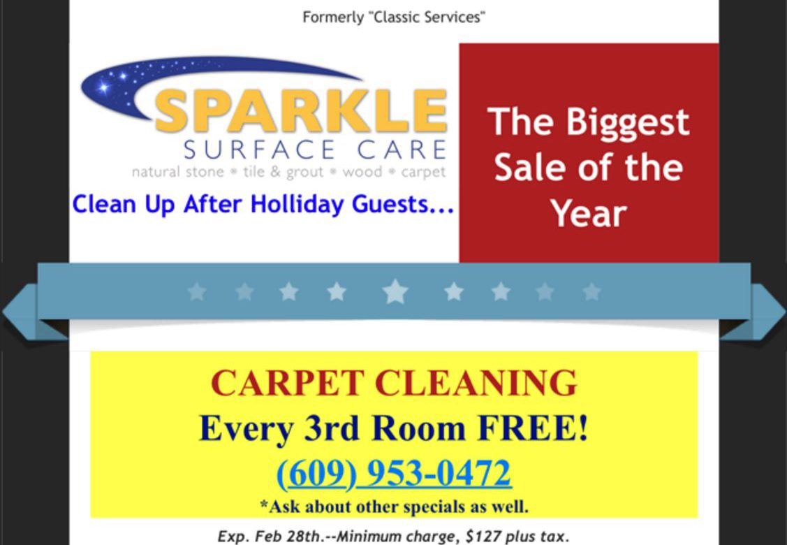 Carpet Cleaning Special Sale