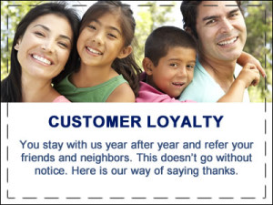 Customer loyalty special pricing