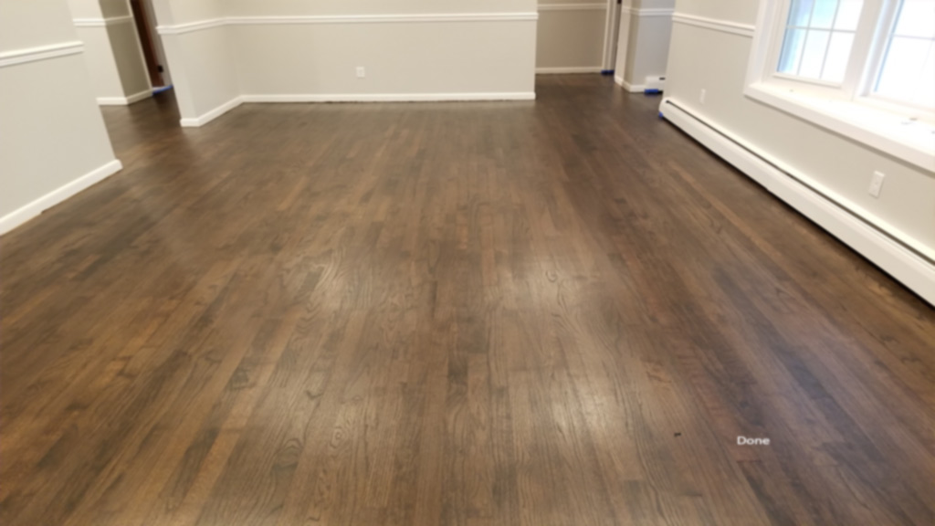Tung & Groove Oak Has Pet Stains Repaired & Hardwood Refinished To A Dark Shine