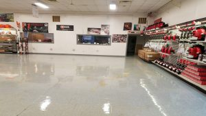Wax Restores Shine to Lawnmower Business'es VCT Showroom