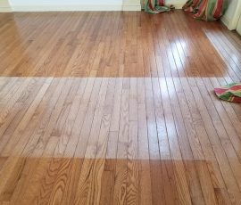 bleached out hardwood before repair