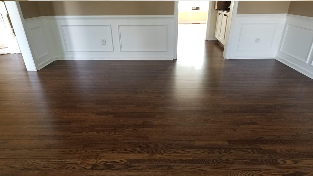 Updated Refinished Red Oak Floor
