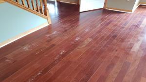 Polyurethaned Hardwood Floor Finish Messed Up With Polish