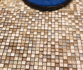 Tabernacle Mosaic Glass Grouted Tile Floor