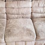 Dirty Sofa, Dirty Microfiber Sofa, Soiled Sofa, Trashed Sofa, Neglected Sofa, Heavily Soiled Sofa,