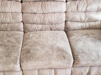 Dirty Sofa, Dirty Microfiber Sofa, Soiled Sofa, Trashed Sofa, Neglected Sofa, Heavily Soiled Sofa,
