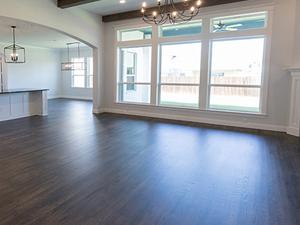 Newly refinished hardwood floor