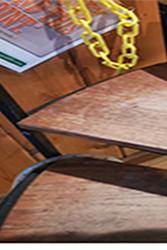 worn hardwood spiral stair treads